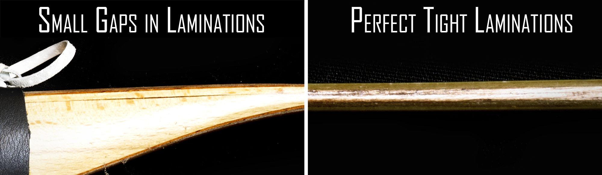 Lamination gaps